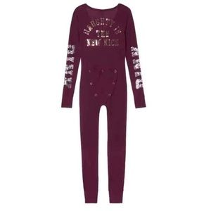 Victoria's Secret Pink One Piece Pajama Bling Ruby